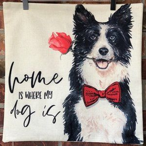 Throw Pillow Case Cover Pet Dog Themed NWT